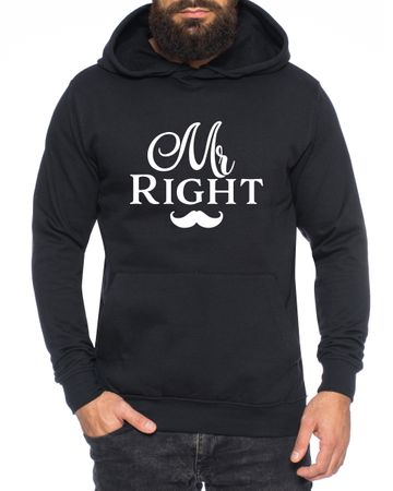 Mr Right Mrs always Right King Queen Partnerlook Couple Hoodie Mouse – Bild 2