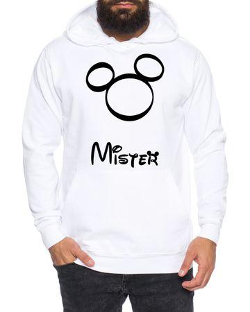 Kopf Mister Misses King Queen Partnerlook Couple Hoodie Mouse – Bild 4