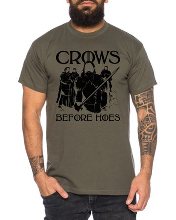 Crows Game Men's T-Shirt Cool Thrones Shirt – Bild 3