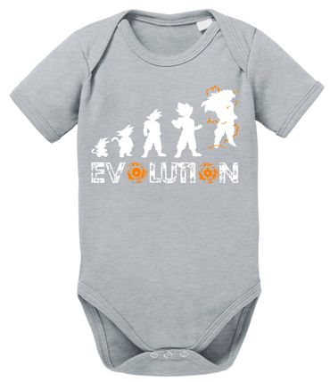 Evolution Dragon Proverbs Ball Son Baby Romper Organic Cotton Bodysuit Boys & Girls 0-12 – Bild 2