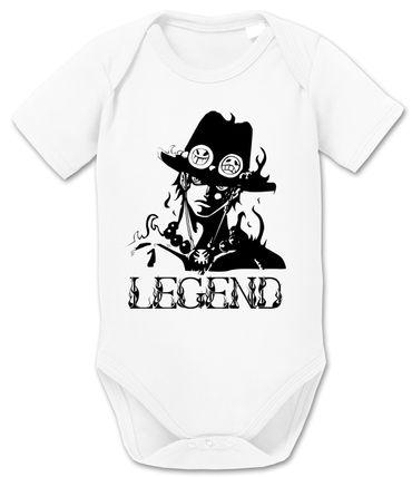 Ace One Baby Strampler White Piece Bio Baumwolle Beard Body Jungen & Mädchen 0-12 Monate – Bild 1