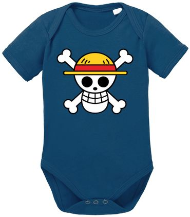 Logo One Straw Hat Baby Proverbs Piece Romper Organic Cotton Bodysuit Boys & Girls 0-12 – Bild 2