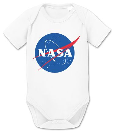 Nasa Logo Rocket Baby Moon Proverbs Romper Organic Cotton Bodysuit Boys & Girls 0-12 – Bild 1
