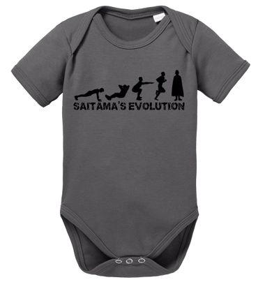Sait Evolution Saitama Baby One Proverbs Romper Punch Organic Cotton Bodysuit Boys & Girls 0-12 – Bild 2