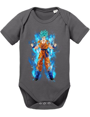 Goku Blue Aura Baby Dragon Proverbs Ball Son Romper Organic Cotton Bodysuit Boys & Girls 0-12 – Bild 7
