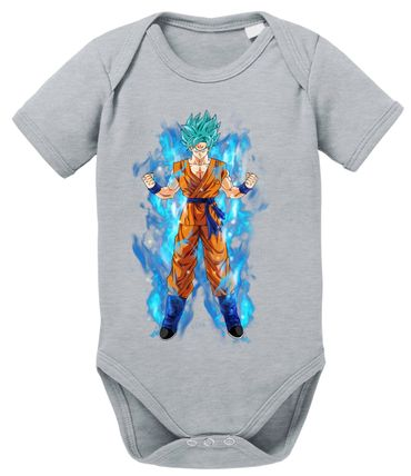 Goku Blue Aura Baby Dragon Proverbs Ball Son Romper Organic Cotton Bodysuit Boys & Girls 0-12 – Bild 8