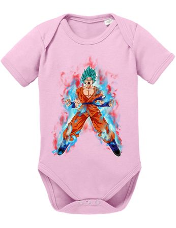 Goku Blue Fire Baby Dragon Proverbs Ball Son Romper Organic Cotton Bodysuit Boys & Girls 0-12 – Bild 7