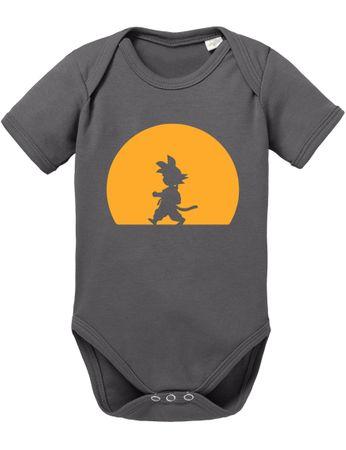 Goku Walk Baby Dragon Proverbs Ball Son Romper Organic Cotton Bodysuit Boys & Girls 0-12 – Bild 2