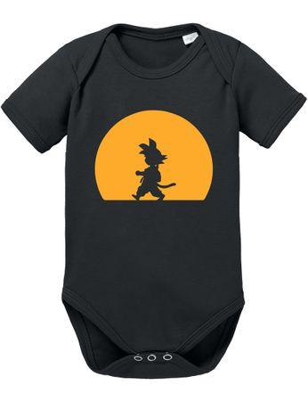 Goku Walk Baby Dragon Proverbs Ball Son Romper Organic Cotton Bodysuit Boys & Girls 0-12 – Bild 1