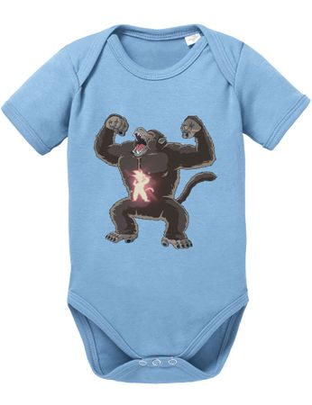 Ozaru Goku Baby Dragon Proverbs Ball Son Romper Organic Cotton Bodysuit Boys & Girls 0-12 – Bild 8