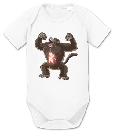 Ozaru Goku Baby Dragon Proverbs Ball Son Romper Organic Cotton Bodysuit Boys & Girls 0-12 – Bild 9