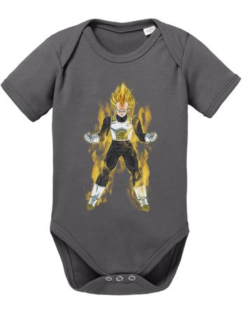 Vegeta Fire Dragon Proverbs Ball Son Baby Romper Organic Goku Cotton Bodysuit Boys & Girls 0-12 – Bild 7