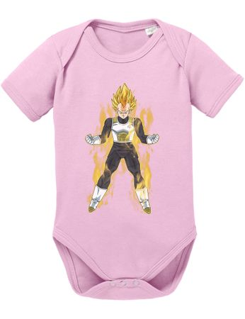 Vegeta Fire Dragon Proverbs Ball Son Baby Romper Organic Goku Cotton Bodysuit Boys & Girls 0-12 – Bild 2