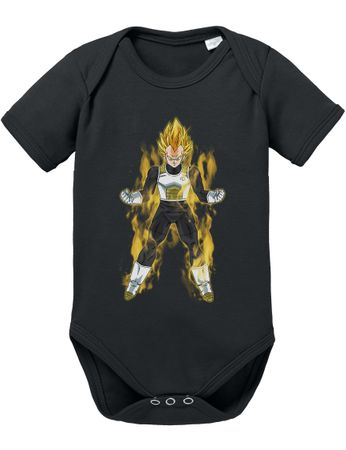 Vegeta Fire Dragon Proverbs Ball Son Baby Romper Organic Goku Cotton Bodysuit Boys & Girls 0-12 – Bild 3