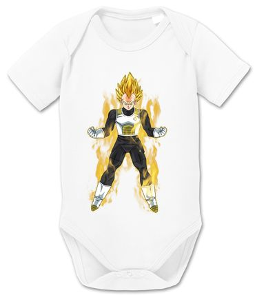 Vegeta Fire Dragon Proverbs Ball Son Baby Romper Organic Goku Cotton Bodysuit Boys & Girls 0-12 – Bild 1