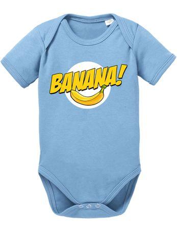 Banazinga Big Baby Strampler Bang Bio Sheldon Baumwolle Theory Body Jungen & Mädchen 0-12 Monate – Bild 3