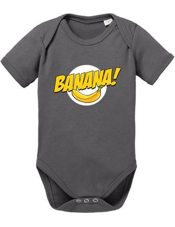Banazinga Big Baby Strampler Bang Bio Sheldon Baumwolle Theory Body Jungen & Mädchen 0-12 Monate – Bild 4