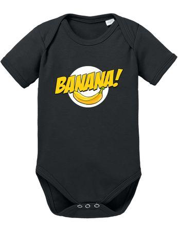 Banazinga Big Baby Strampler Bang Bio Sheldon Baumwolle Theory Body Jungen & Mädchen 0-12 Monate – Bild 2