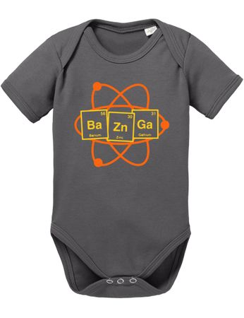Bazinga Big Baby Sheldon Proverbs Bang Romper Organic Cotton Theory Bodysuit Boys & Girls 0-12 – Bild 2