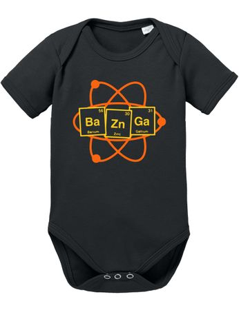 Bazinga Big Baby Sheldon Proverbs Bang Romper Organic Cotton Theory Bodysuit Boys & Girls 0-12 – Bild 1