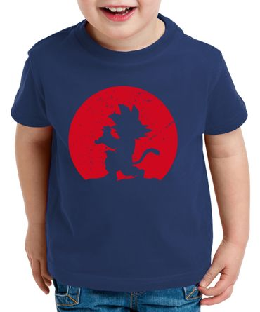 Kame Moon Goku Kinder T-Shirt Son Dragon Master Ball Vegeta Turtle Roshi Db – Bild 1