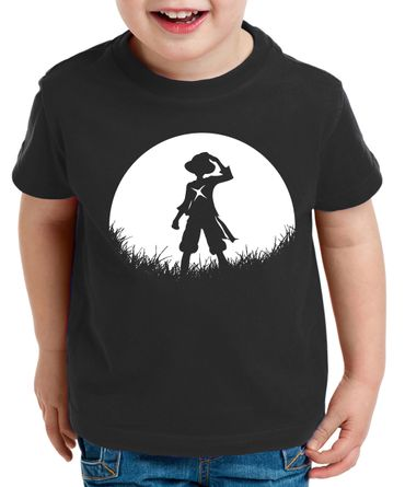 Sun Rise Ruffy Zorro One Manga Kinder T-Shirt Anime Piece – Bild 1