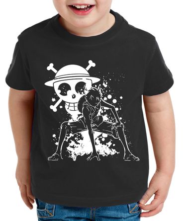 Ruffy Angry Zorro One Manga Kinder T-Shirt Anime Piece – Bild 1