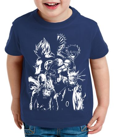 Heroes One Manga Helden Kinder T-Shirt Anime Piece – Bild 2