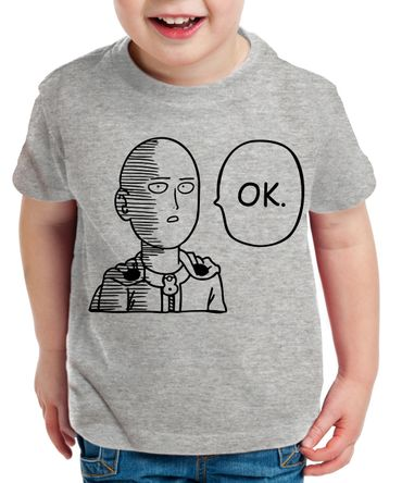OK Saitama Kinder T-Shirt Punch one anime manga – Bild 5