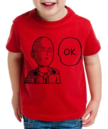 OK Saitama Kinder T-Shirt Punch one anime manga – Bild 3