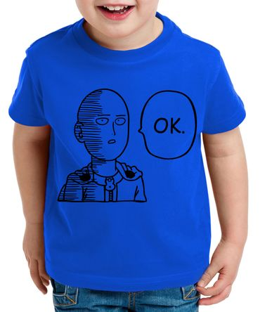 OK Saitama Kinder T-Shirt Punch one anime manga – Bild 2