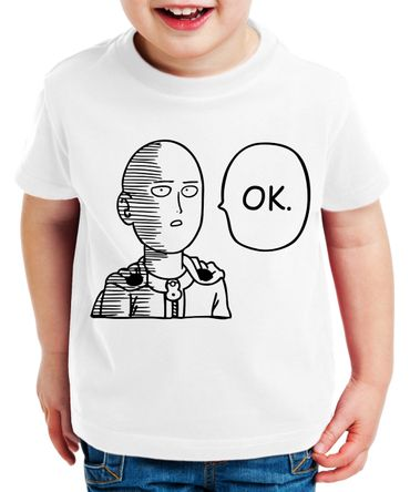 OK Saitama Kinder T-Shirt Punch one anime manga – Bild 1