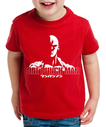 OPM Saitama Kinder T-Shirt Punch one anime manga – Bild 5