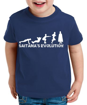 Sait Evo Saitama Kinder T-Shirt Punch one anime manga – Bild 1