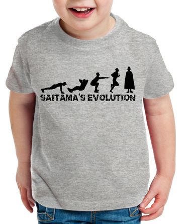 Sait Evo Saitama Kinder T-Shirt Punch one anime manga – Bild 2