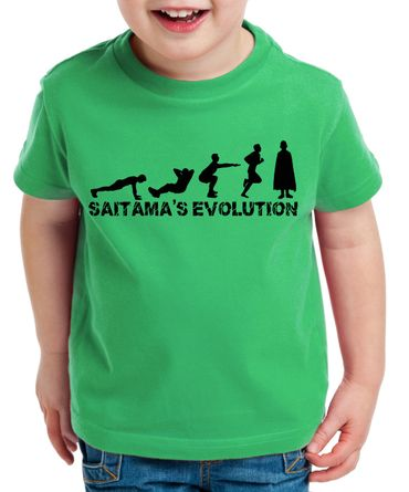 Sait Evo Saitama Kinder T-Shirt Punch one anime manga – Bild 3
