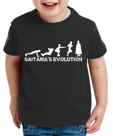 Sait Evo Saitama Kinder T-Shirt Punch one anime manga – Bild 6