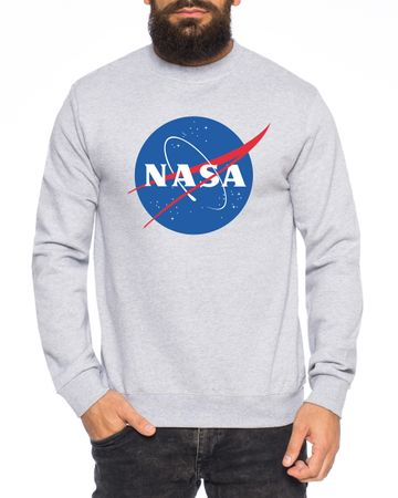 NASA Logo Men's Sweatshirt Astronaut Space Rocket Moon – Bild 3