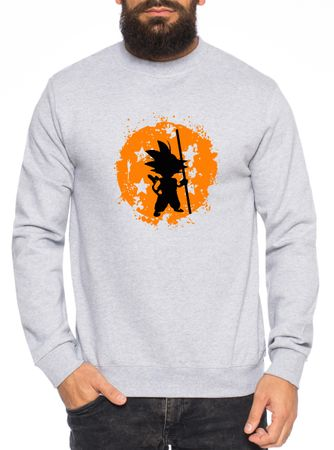 Son Bruch Herren Sweatshirt Son Dragon Master Ball Vegeta Turtle Roshi Db – Bild 3