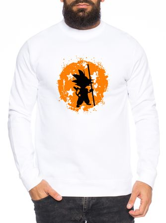 Son Bruch Herren Sweatshirt Son Dragon Master Ball Vegeta Turtle Roshi Db – Bild 1