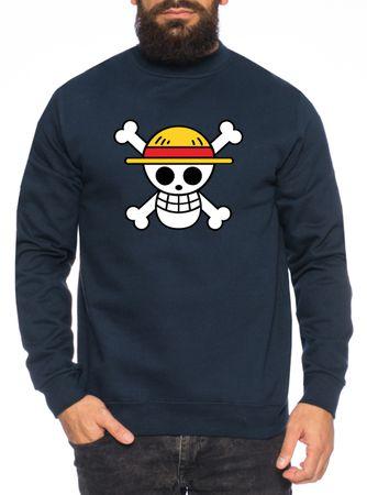 Logo Straw Hat One Manga Men's Sweatshirt Luffy Anime Piece – Bild 3