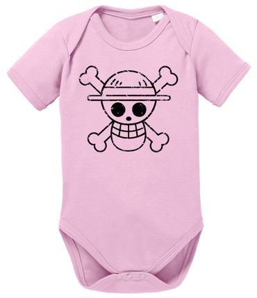 Logo Bruch One Baby Piece Luffy Romper Organic Cotton Bodysuit Boys & Girls 0-12  – Bild 6