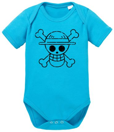 Logo Bruch One Baby Piece Luffy Romper Organic Cotton Bodysuit Boys & Girls 0-12  – Bild 8