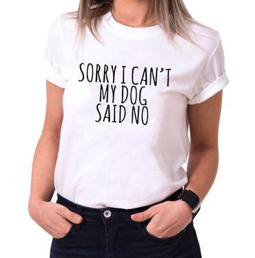 My Dog said no - Statement Shirts - Women's T-Shirt Crewneck – Bild 2