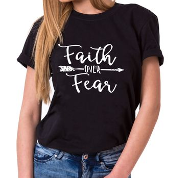 Faith over Fear - Statement Shirts - Women's T-Shirt Crewneck – Bild 1