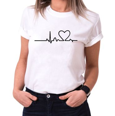 Heart Line- Statement Shirts - Women's T-Shirt Crewneck – Bild 2