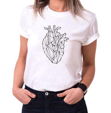 Polygon Heart- Statement Shirts - Women's T-Shirt Crewneck – Bild 2