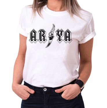 Arya - T-Shirt Damen Targaryen  thrones game of stark lannister baratheon Daenerys khaleesi tv blu-ray dvd  – Bild 2