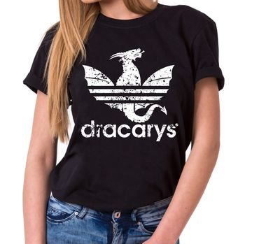 Dracarys Dragon - T-Shirt Damen Targaryen  thrones game of stark lannister baratheon Daenerys khaleesi tv blu-ray dvd  – Bild 1