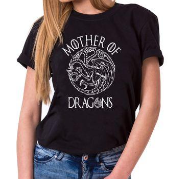 Mother of Dragons II - Women's T-Shirt Crewneck Targaryen  thrones game of stark lannister baratheon Daenerys khaleesi tv blu-ray dvd  – Bild 1